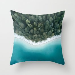 Green and Blue Symmetry - Landscape Photography Throw Pillow