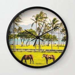 Hawaiian landscape Wall Clock