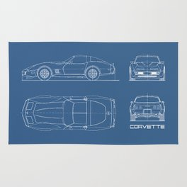 The Vette C3 Blueprint Rug