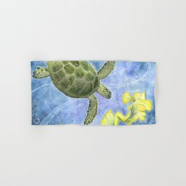 The Sea Turtle and Sea Nymph Hand & Bath Towel