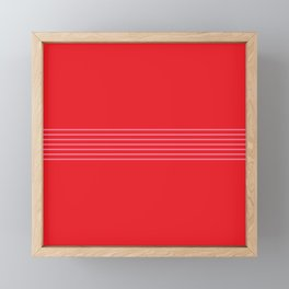 Fine Pink Lines on Red Framed Mini Art Print