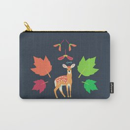 White-tailed Deer + Red Maple Carry-All Pouch