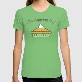 Happy Thanksgiving Day Pie Design T-shirt
