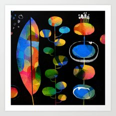 LEAFY ABSTRACTION Art Print