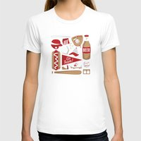 baseball T-shirts featuring Baseball by Jessica Giles