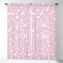 Chocolate vs. diamonds / Lineart diamonds pattern with slogan Blackout Curtain