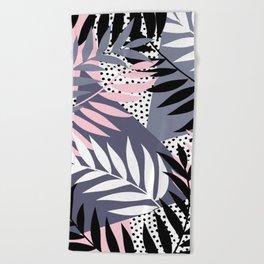Palms on Polka Dots Beach Towel