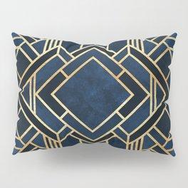 Art Deco Fancy Blue Pillow Sham
