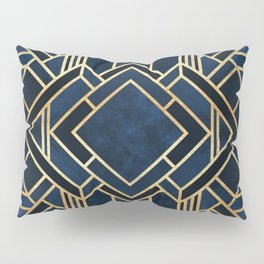 Art Deco Fancy Blue Pillow Sham