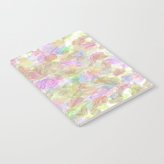 Soft Pastel Mixed Floral Abstract Notebook