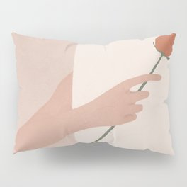 One Rose Flower Pillow Sham