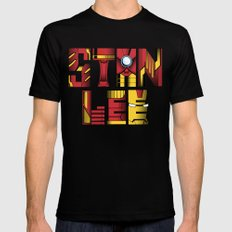 Stan Lee (Iron Man) Black Mens Fitted Tee X-LARGE