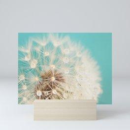 dandelion with waterdrops Mini Art Print