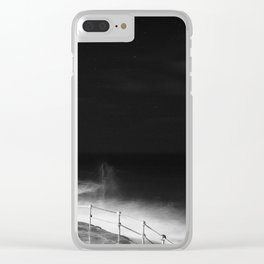 Space is only Noise Clear iPhone Case