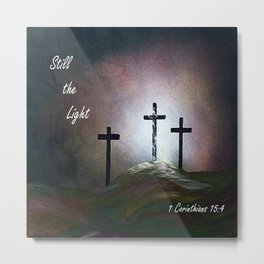 Still the Light Scripture Painting Metal Print