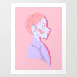 Pastry girl Art Print