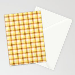 Melon Orange Scottish Tartan Stationery Cards
