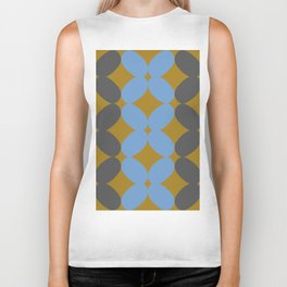 Retro Petal Pattern Tri-color #decor #society6 #buyart Biker Tank