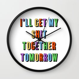 Get It Together Wall Clock
