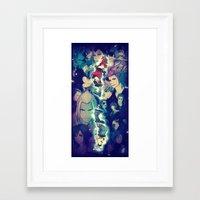 kingdom hearts Framed Art Prints featuring Kingdom Hearts by Ginilla