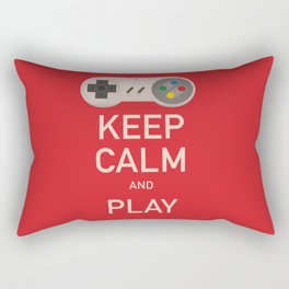 Keep Calm and Play vintage poster Rectangular Pillow