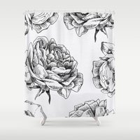 roses Shower Curtains featuring Roses  by Caitlin Workman