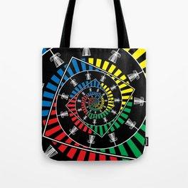 Spinning Disc Golf Baskets Tote Bag