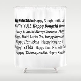 Happy Holidays! Shower Curtain