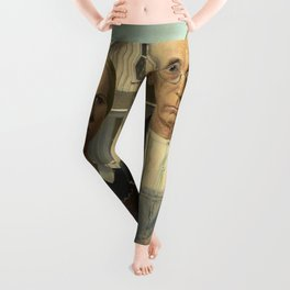 American Gothic Oil Painting by Grant Wood Leggings