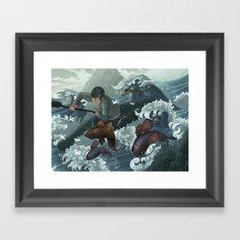 White Water Framed Art Print
