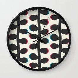 Like a Leaf [black] Wall Clock