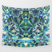 diamond Wall Tapestries featuring Diamond by Marta Olga Klara