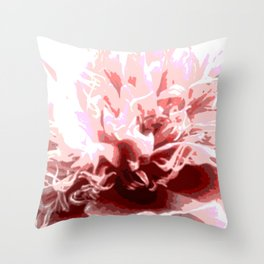 Floral shapes and colors Throw Pillow