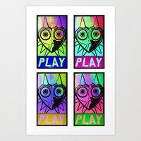 majora Art Prints featuring Majora Commands You by Shy Guy Street Art