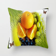 Sweet Fruits Throw Pillow