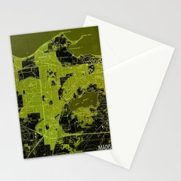 Madison West Wisconsin vintage map year 1959, rustic map, poster map Stationery Cards