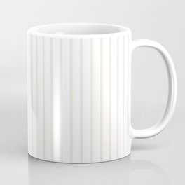 Classic Cream Pin Stripes on White Coffee Mug