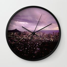 Waikiki Sunset Wall Clock