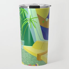 Retrofuturism in Space Travel Mug