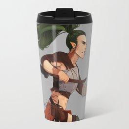 Half Orc Warrior Travel Mug