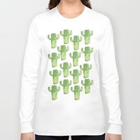 cacti Long Sleeve T-shirts featuring cacti by kristinesarleyart