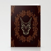 charizard Stationery Cards featuring Charizard Skull by Kayla Catherine Illustration