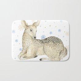 Christmas deer #1 Bath Mat