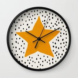 Star, Mid century modern kids wall art, Nursery room Wall Clock