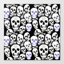 Small Tiled Skull Pattern Canvas Print