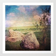 Vintage Landscape 01 Art Print