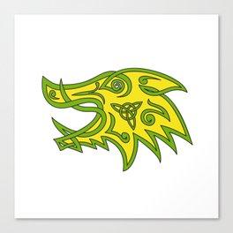 Boar Head Celtic Knot Canvas Print