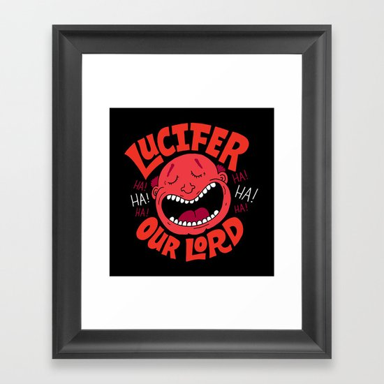 LOL Lucifer Framed Art Print