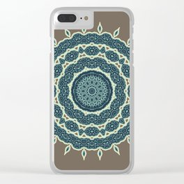 Mandala Earth 1 Clear iPhone Case