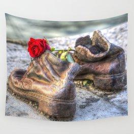 Shoes On The Danube Bank Wall Tapestry